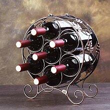 Weinregal Eisen Metall Wein 7 Flaschen