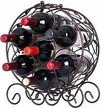 Weinregal, Eisen, Weinregal, für 7 Flaschen Wein