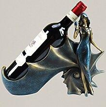Weinregal Europäische Wein Rotwein Rack Dekoration Restaurant Weinkabinett Home Decorations Desktop Möbel Kreativ Handwerk Racks Wein Inhaber Weinregale ( Farbe : A )