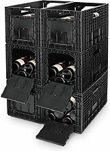 Weinregal / Flaschenregal, 6 Boxen für je 12