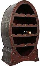 Weinregal Flaschenregal 80cm Wein Flasche Regal Antik-Stil Holz Weinschrank Fass