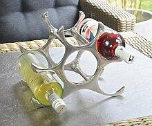 Weinregal Flaschenregal Flasche Aluminium Silber