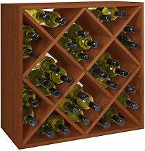 Weinregal/Flaschenregal System RAUTEN für 32 Fl,