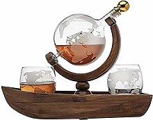 Weinregal Flaschenregal Whiskey Decanter, Schiff