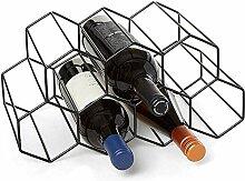 Weinregal freistehend, Metall 7 Flaschen Weinregal