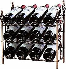 Weinregal für 12 Flaschen aus Schmiedeeisen,