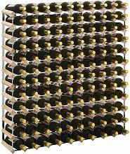 Weinregal für 120 Flaschen Massivholz Kiefer