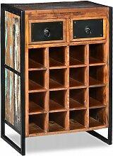 Weinregal für 16 Flaschen aus Massivem Altholz