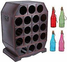 Weinregal für 18 Flaschen | Flaschenregal für