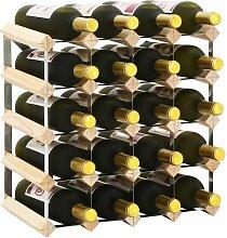 Weinregal für 20 Flaschen Massivholz Kiefer