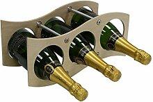 Weinregal für 3 Flaschen, aus Holz, modular,
