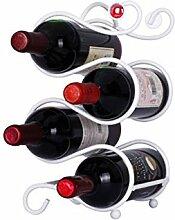 Weinregal für 4Flaschen freistehend Metall
