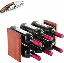 Weinregal für 4 Flaschen und 4 Gläser,