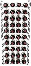 Weinregal für 40 Flaschen, 10 Ebenen, Chrom