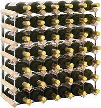 Weinregal für 42 Flaschen Massivholz Kiefer