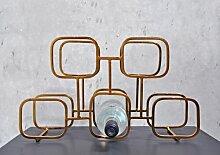 Weinregal für 5 Fl. Gavi XLBoom Farbe: Messing