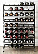 Weinregal für 54 Flaschen, groß, faltbar,