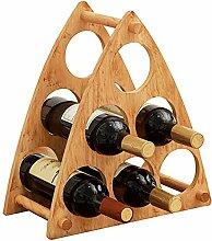 Weinregal für 6 Flaschen im Vintage-Stil, Holz,