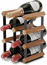 Weinregal für 6 Flaschen, mit 2 zusätzlichen