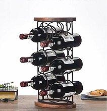 Weinregal für 6 Flaschen, stapelbar, freistehend,
