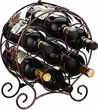 Weinregal für 7 Flaschen freistehende Metall