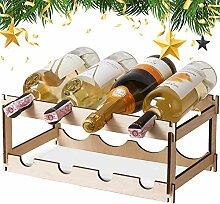 Weinregal für 8 Flaschen, 2 Etagen, kleines