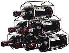 Weinregal für 9 Flaschen, freistehend, Metall,