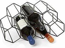 Weinregal für 9 Flaschen, Weinhalter für
