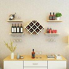Weinregal für die Wandmontage, Flaschenhalter