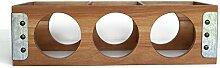 Weinregal für Küche und Tisch, aus Akazienholz