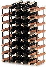 Weinregal Gitter 40 Flaschen DIY Buche Holz Regal