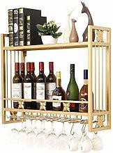 Weinregal-Glashalter an der Wand,kopfüber