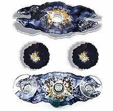 Weinregal Glashalter Form mit 2 Stück Geode Achat