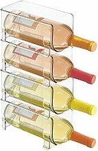 Weinregal, glasklar, stapelbar, für Weinflaschen,