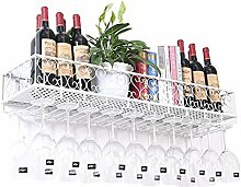 Weinregal hängen Weinglashalter Metall Retro