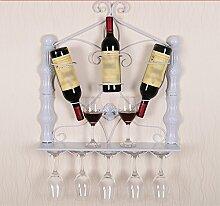 Weinregal hängende Weinregal, hängende Weinregal, Seite hängen Weinglas Halter, europäischen Wand Weinregal ( Farbe : Weiß )