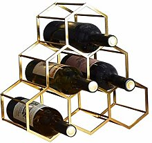 Weinregal Haushalt Metall Geometrische Weinregal