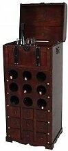 Weinregal Holz 9 Flaschen Flaschenregal