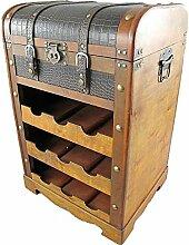 Weinregal Holz Kunstleder 70x45cm mit
