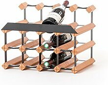 Weinregal Holz / Massivholz Buche 15 Flaschen -