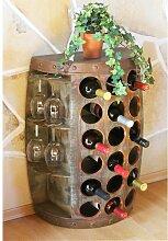 Weinregal Holz Vintage Weinfass Flaschenregal 1486