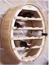 Weinregal Holz Wand Weinfass für 18 Flaschen