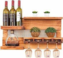 Weinregal Holz Wandhalterung Weinglas Rack Rotwein