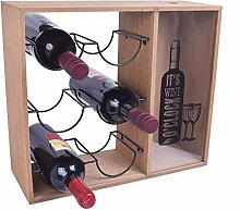 Weinregal klein, Flaschenregal mit 3 Ebenen für