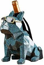 Weinregal Kreative geometrische Sonnenbrille Hund