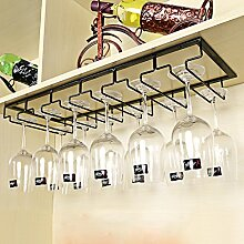 Weinregal kreatives Weinglas Rahmen Höhe Tasse Inhaber Eisen hängen Rotwein Glas Rack umgedreht Weinschrank Weinregal Weinregale ( Farbe : Schwarz , größe : 60*22.5cm )