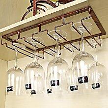 Weinregal kreatives Weinglas Rahmen Höhe Tasse Inhaber Eisen hängen Rotwein Glas Rack umgedreht Weinschrank Weinregal Weinregale ( Farbe : Messing , größe : 40*22.5cm )
