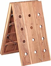 Weinregal Massiv Holz Akazie Flaschenregal für 24