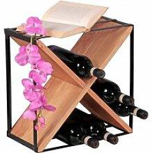 Weinregal Massiv-Holz Akazie Flaschenregal für
