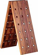 Weinregal Massiv Holz Sheesham Flaschenregal für